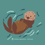 Load image into Gallery viewer, Sea Otter Floating Adult Crew Neck Sweatshirt