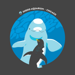 Load image into Gallery viewer, When Beluga and Penguins Meet Adult T-Shirt