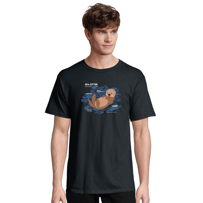 Sea Otter Science Adult T-Shirt