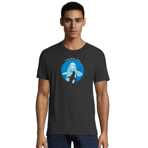 When Beluga and Penguins Meet Adult T-Shirt