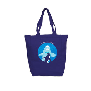 When Beluga and Penguins Meet Tote Bag