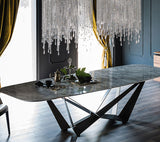 VANI Jade Stone Marble Dining Table (Available in Rectangular & Round Dining Table)