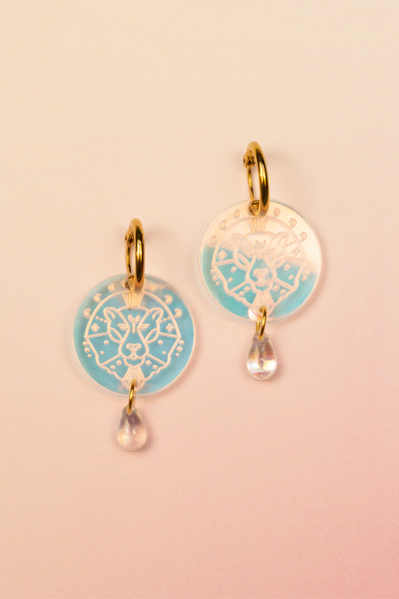 Leo Zodiac Earrings