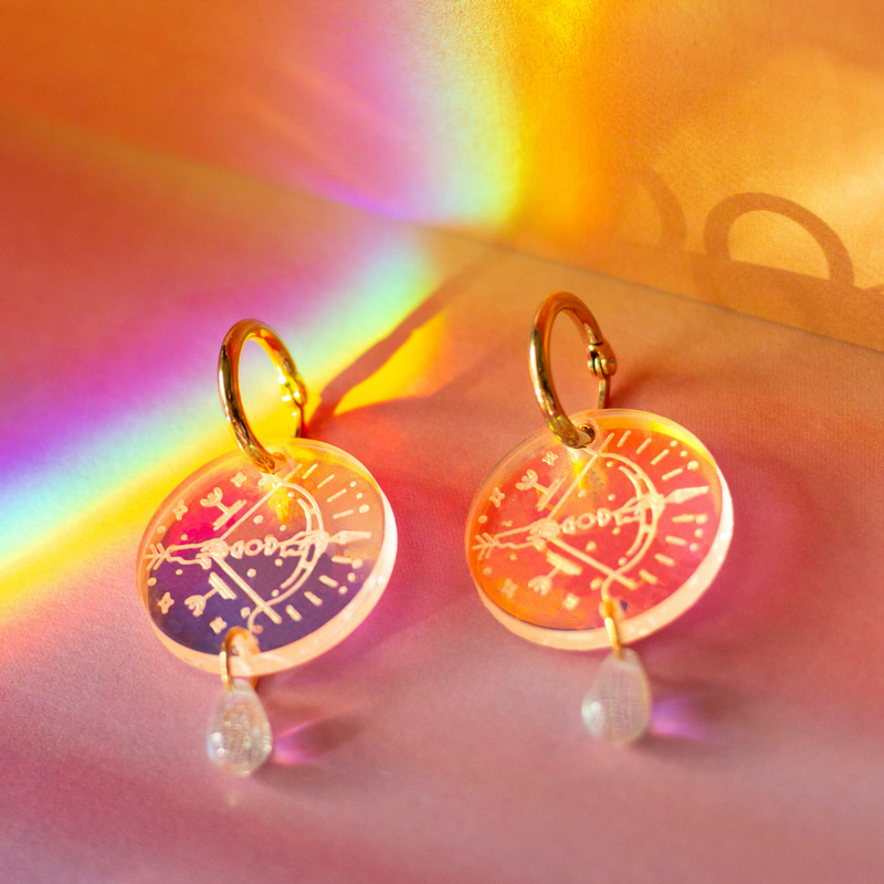 Sagittarius Zodiac Earrings