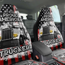 Load image into Gallery viewer, Proud American Trucker Seat Covers