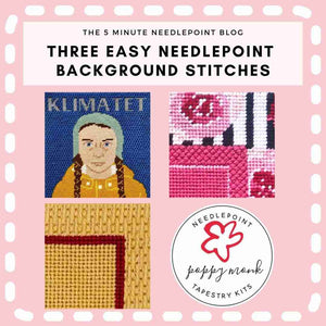 Three Go-Anywhere Needlepoint Background Stitches