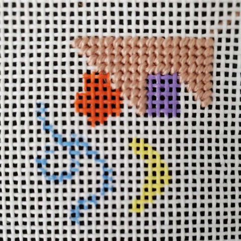 how to needlepoint basketweave around objects or shapes