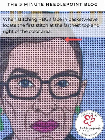 How to do a needlepoint basketweave stitch blog post
