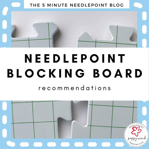 needlepoint blocking board recommendations blog post