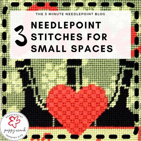 needlepoint stitches for small spaces blog post