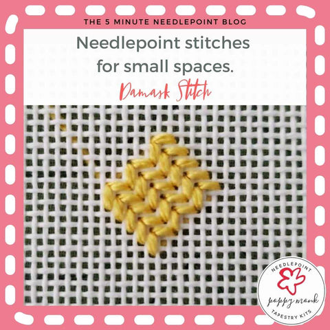 needlepoint stitches for small spaces damask stitch