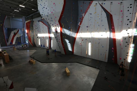 Adventure Rock MKE you can see the 5.5″ carpet-bonded foam flooring