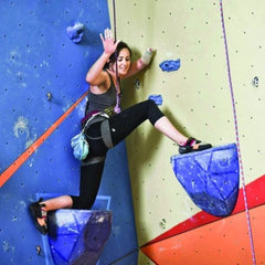 Corners and creatively placed large holds can help make climbing more accessible for adaptive climbers