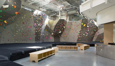 Main climbing area of the Hive North Shore Bouldering Gym