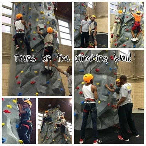 Teens Climbing at Chicago's Rebecca K. Crown Youth Center