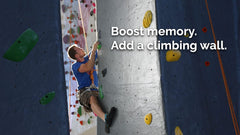boost memory with climbing wall