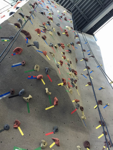 Catonsville Family Center Y rock climbing wall