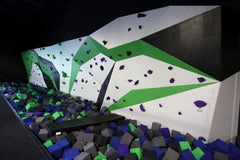 55' bouldering wall at Bouldering wall at Spider Monkey Extreme Airsports in Aurora, CO