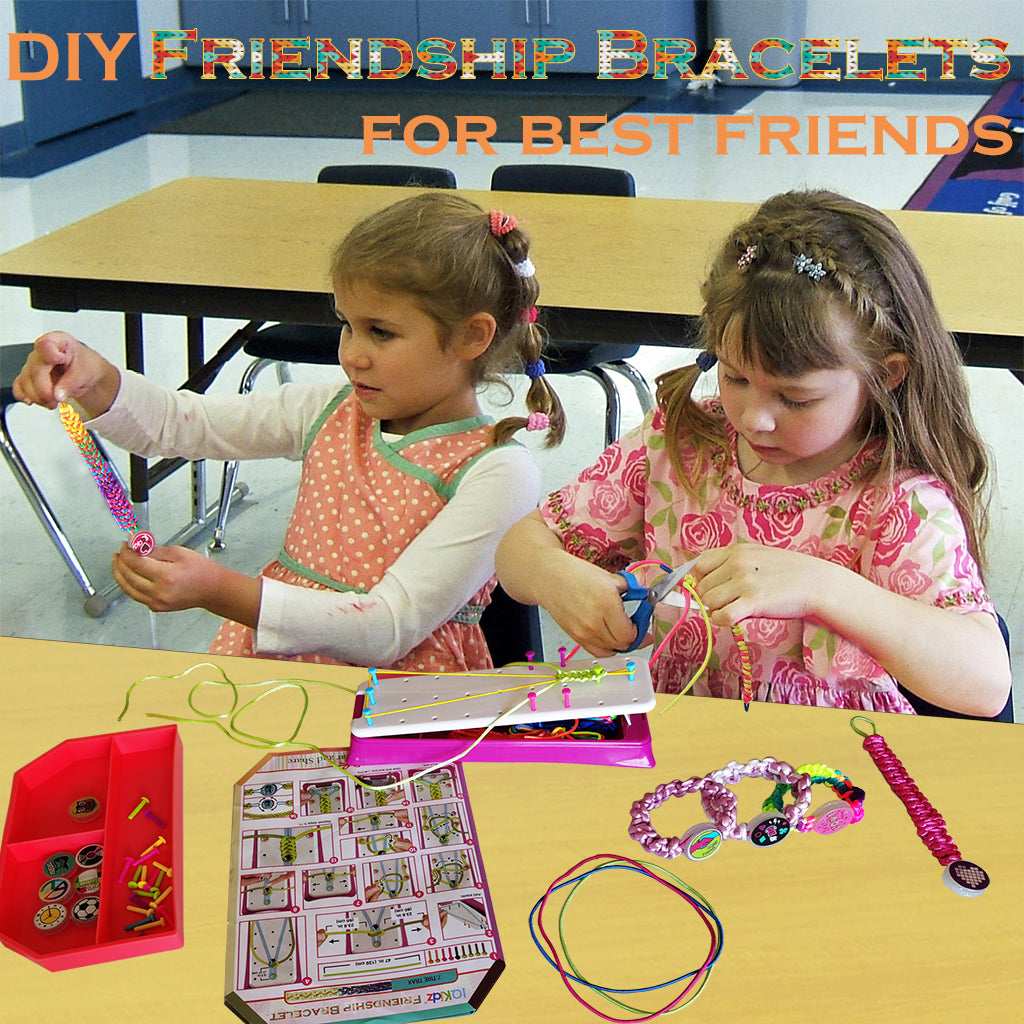 Friendship Bracelet Maker Kit - Making Bracelets Craft Toys for Girls Age 8 - 12 yrs, Cool Birthday Gifts for 7, 9, 10, 11 Years Old Kids, New 2020 Travel Activity Set