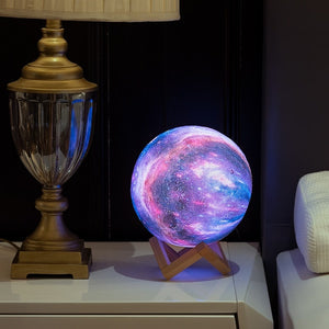 3D Printing Galaxy Moon Lamp Light