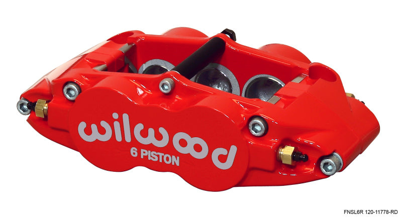 Wilwood Caliper-Narrow Superlite 6R-RH - Red 1.62/1.12/1.12in Pistons 1.25in Disc