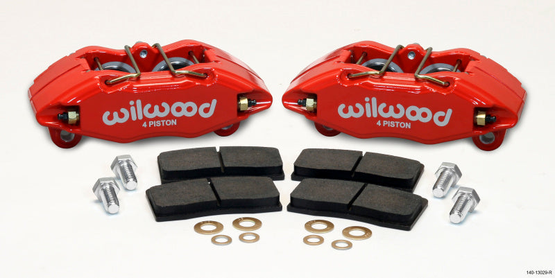 Wilwood DPHA Front Caliper & Pad Kit Red Honda / Acura w/ 262mm OE Rotor