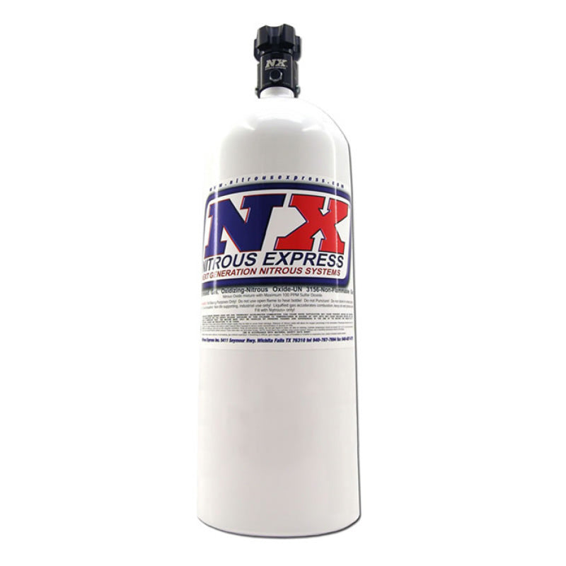 Nitrous Express 15lb Bottle w/Lightning 500 Valve (6.89 Dia x 26.69 Tall)