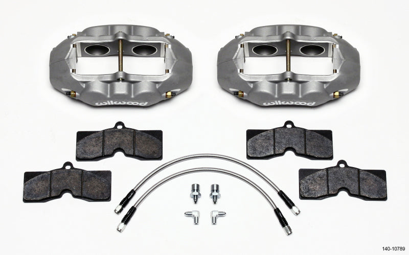 Wilwood D8-4 Front Caliper Kit Clear Corvette C2 / C3 65-82