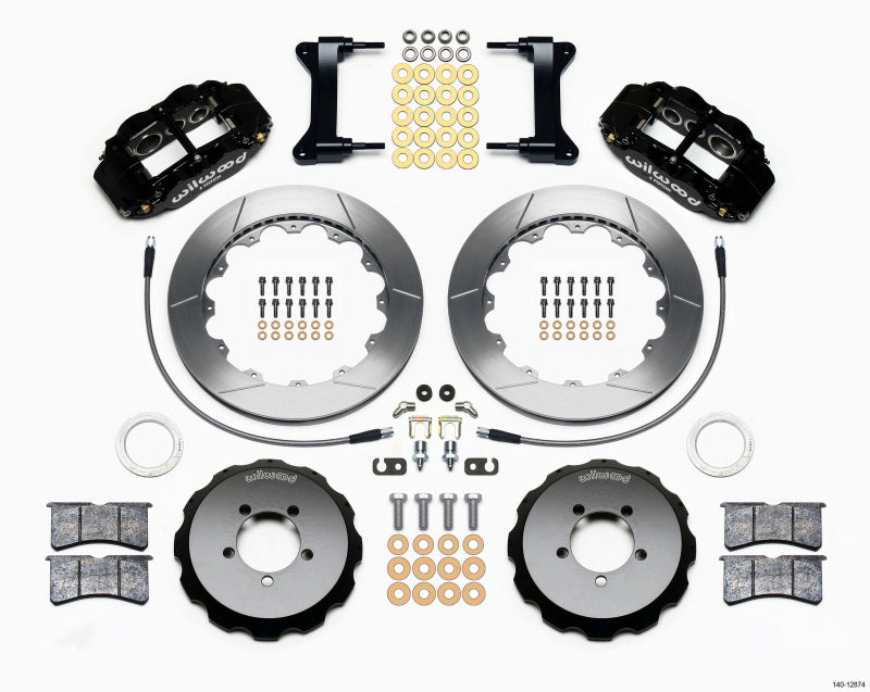 Wilwood Narrow Superlite 6R Front Hat Kit 13.06in 1999-2012 Subaru WRX w/Lines