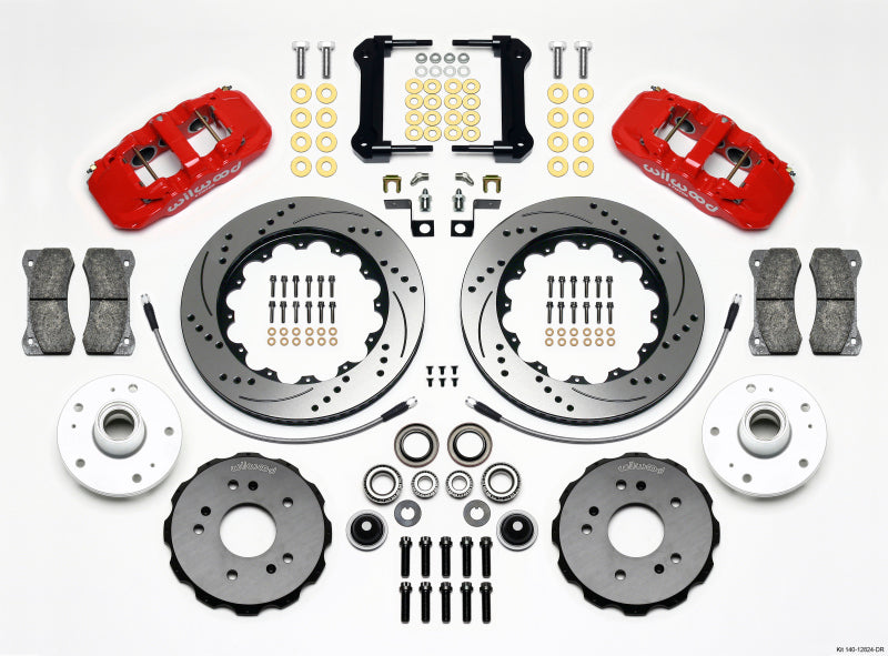 Wilwood AERO6 Front Truck Kit 14.25in Drill Red 97-03 Ford F150