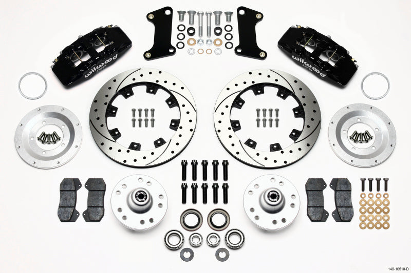Wilwood Dynapro 6 Front Hub Kit 12.19in Drilled 67-69 Camaro (*Line Kit Needed*)