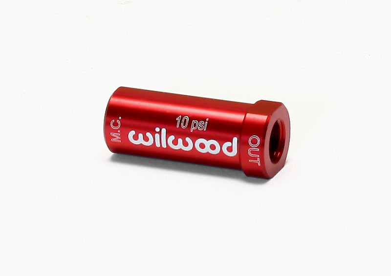 Wilwood Residual Pressure Valve - New Style 10# / Red