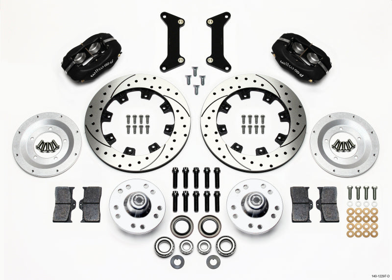 Wilwood Forged Dynalite Front Kit 12.19in Drilled 79-87 GM G Body