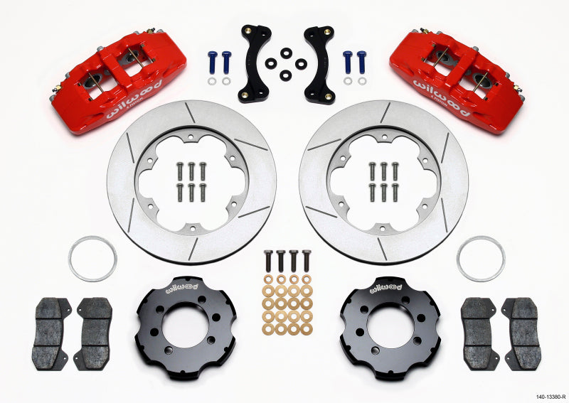 Wilwood Dynapro 6 Front Hat Kit 11.00in GT Rotor Red 95-05 Miata