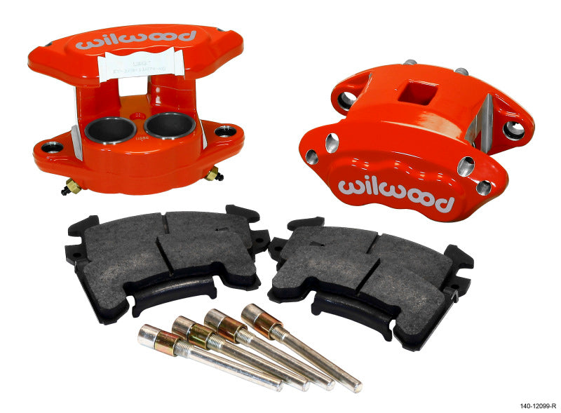 Wilwood D154 Front Caliper Kit - Red 1.62 / 1.62in Piston 1.04in Rotor