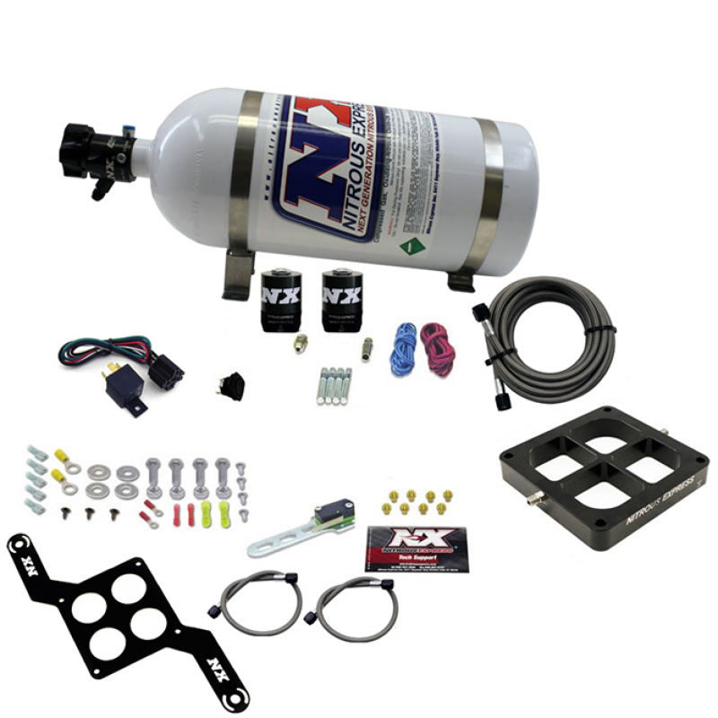 Nitrous Express Dominator Single Entry Crossbar Pro-Power Nitrous Kit (100-500HP) w/10lb Bottle