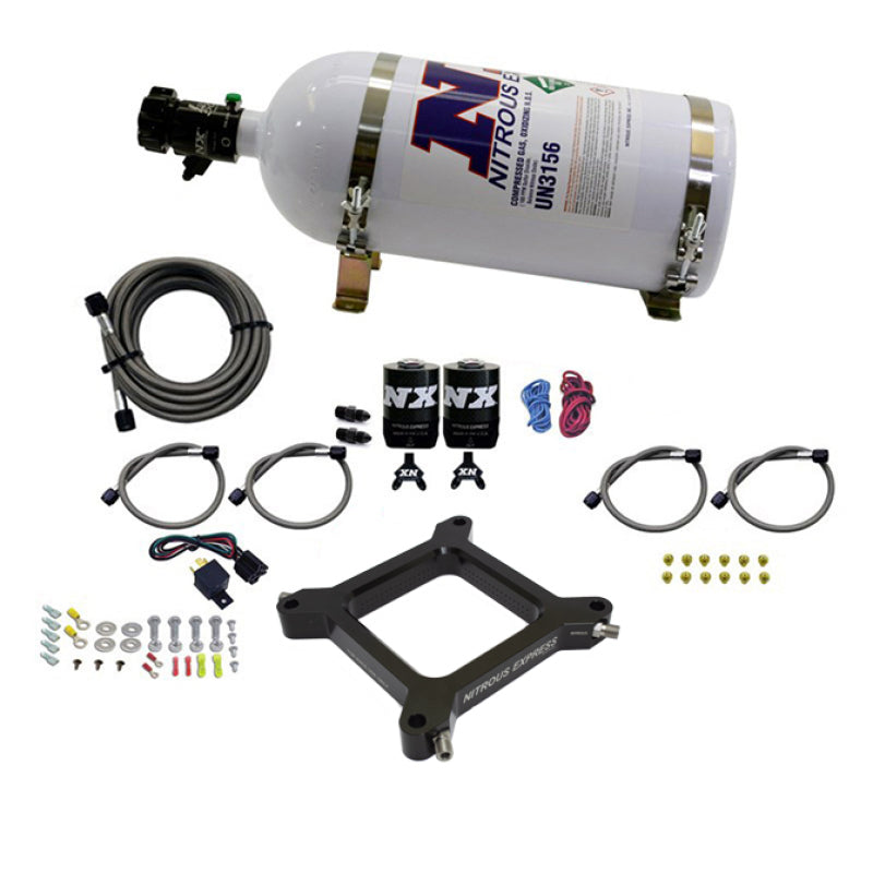 Nitrous Express 4150 Assassin Plate Stage 6 Nitrous Kit (50-300HP) w/10lb Bottle