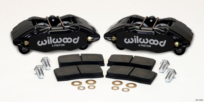 Wilwood DPHA Front Caliper & Pad Kit Black Honda / Acura w/ 262mm OE Rotor