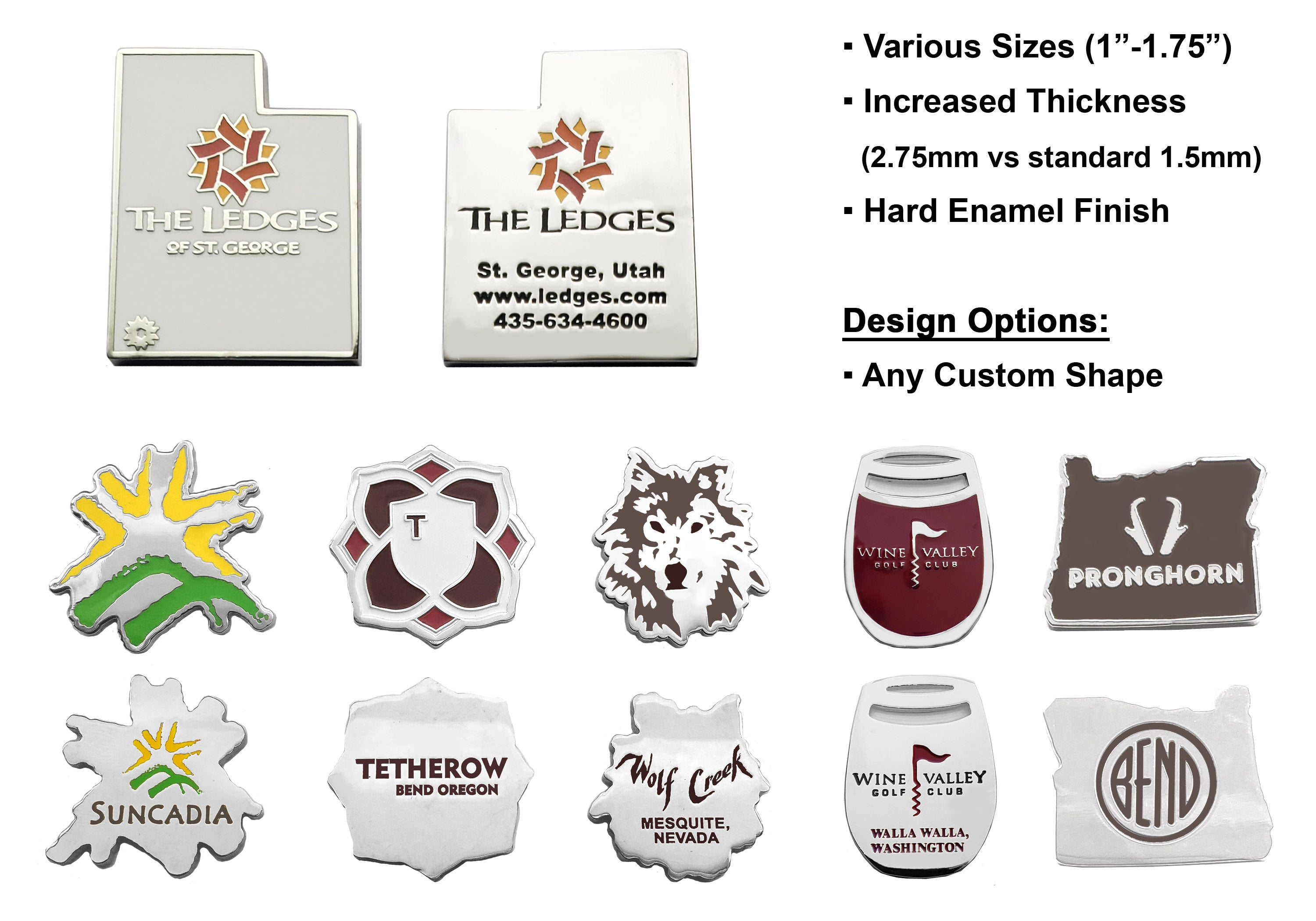 Custom Shaped Premium Ballmarkers