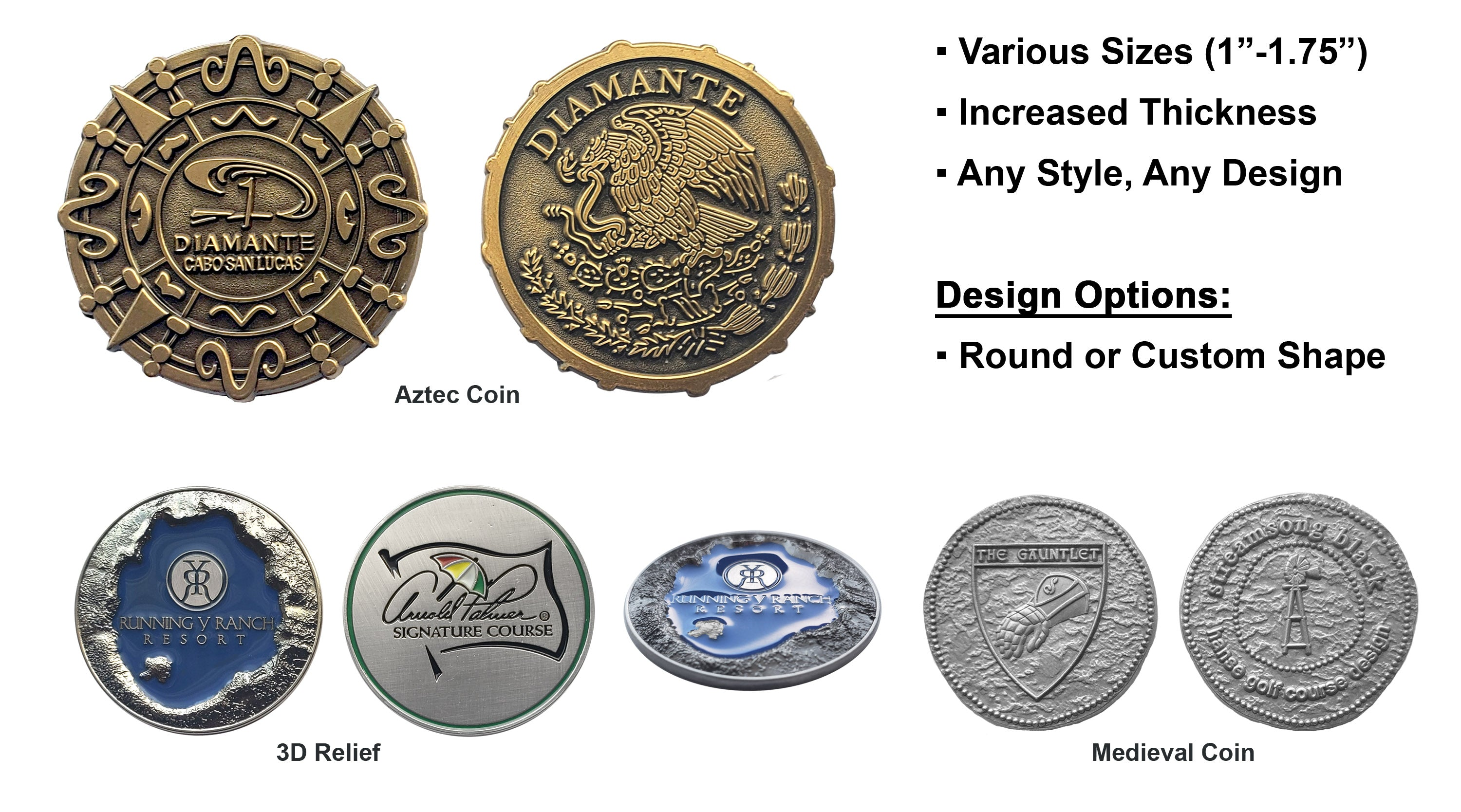 Rustic Coins, Specialty Coins