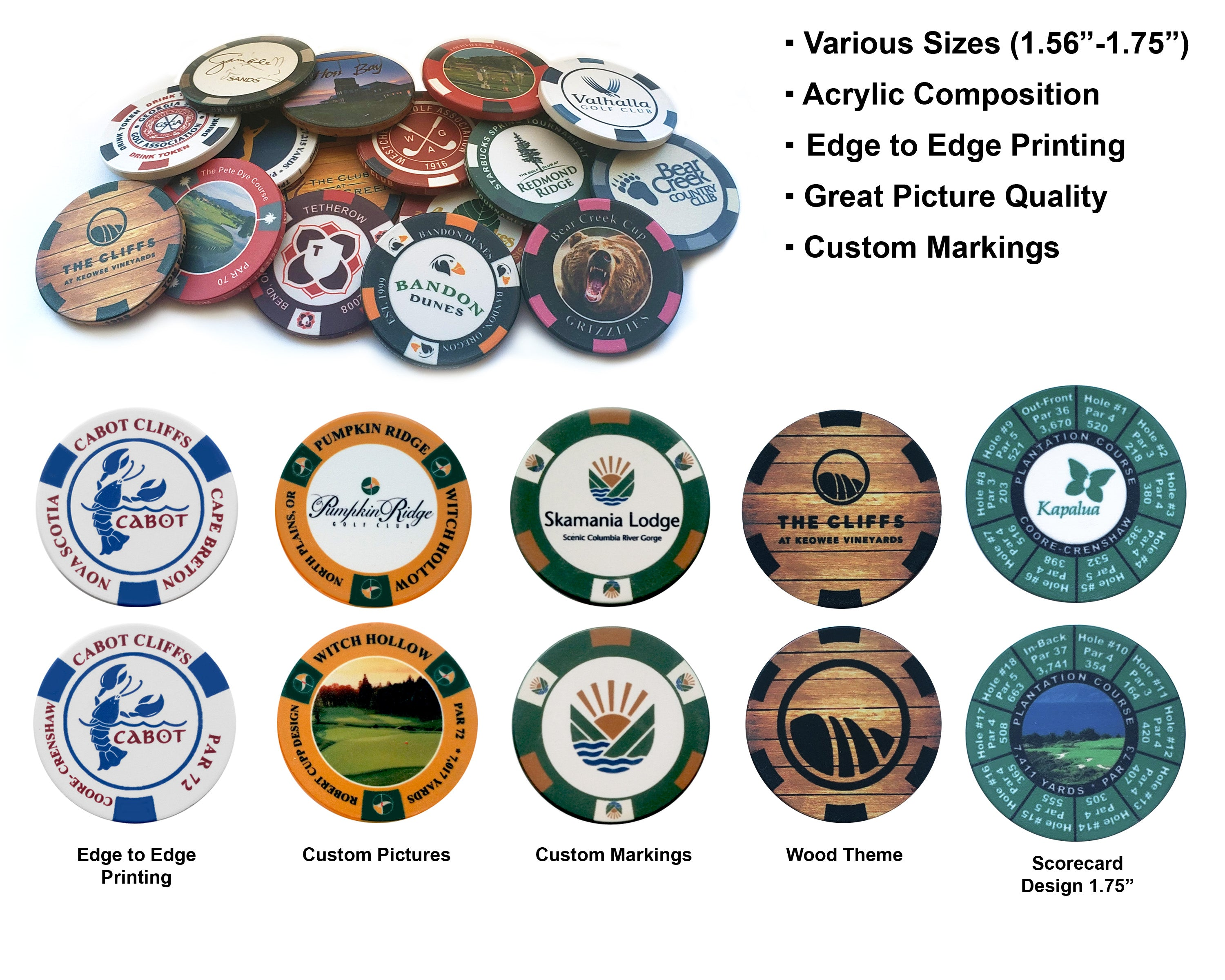 Custom Poker Chips, Acrylic Poker Chips