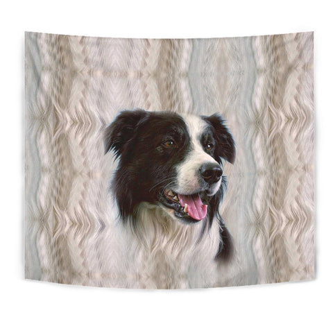 Cute Border Collie Print Tapestry