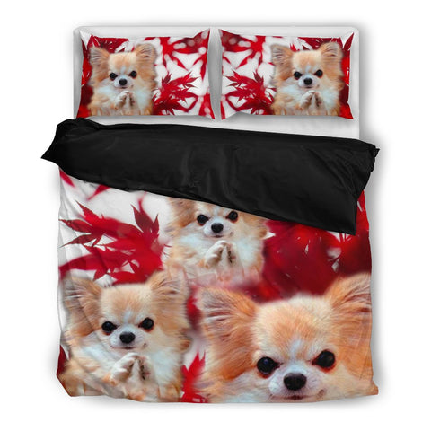 Valentine's Day Special Chihuahua On Red Print Bedding Set