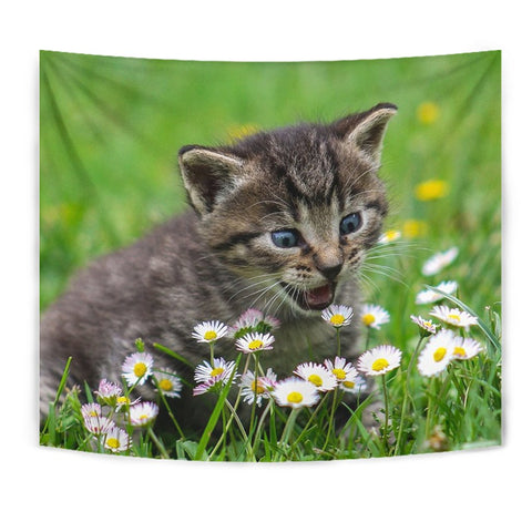 Cute American Shorthair Cat Print Tapestry