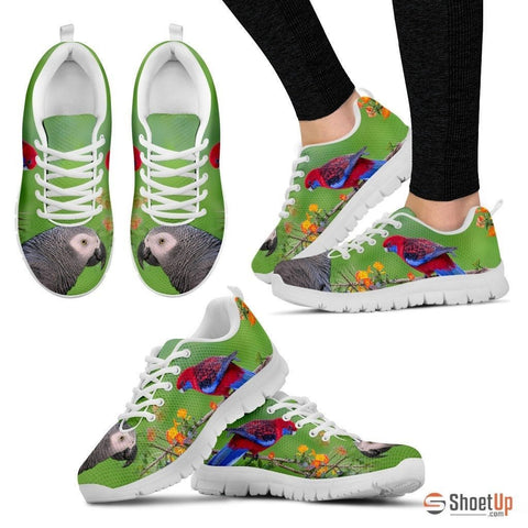 African Grey Parrot Print Running Shoes For Women