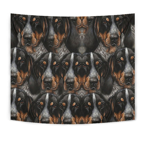 Bluetick Coonhound Dog In Lots Print Tapestry