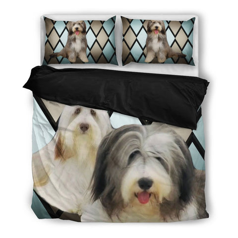 Bearded Collie Print Bedding Set
