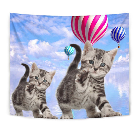 American Shorthair Cat Print Tapestry