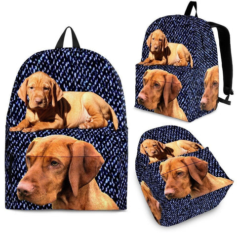 Vizsla Dog Print BackPack Express Shipping