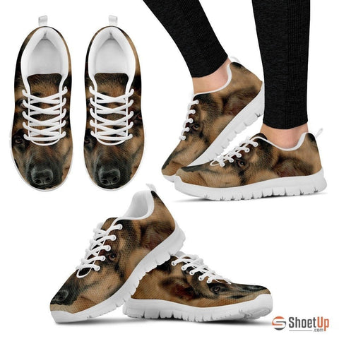 Amazing German Shepherd Print (Black/White) Running Shoes For Women